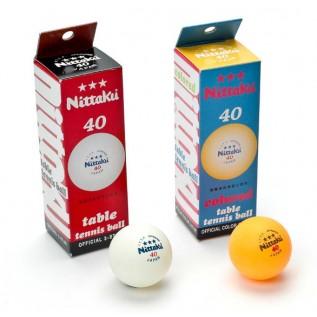 Мячи для настольного тенниса Nittaku 3 star 40 mm