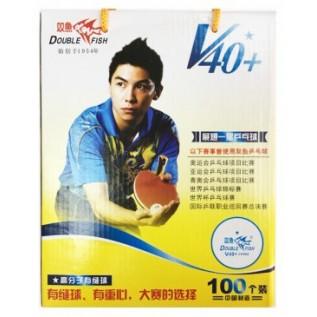 Мячи для настольного тенниса Double Fish ABS V40+ 1 star 100 шт.