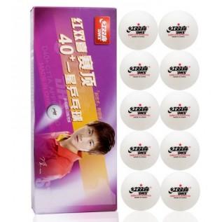 Пластиковые мячи для настольного тенниса DHS Dual 1 star 40+ 10 шт.