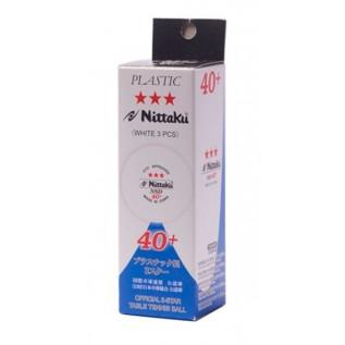 Мячи для настольного тенниса Nittaku SD 40+ 3 star ITTF